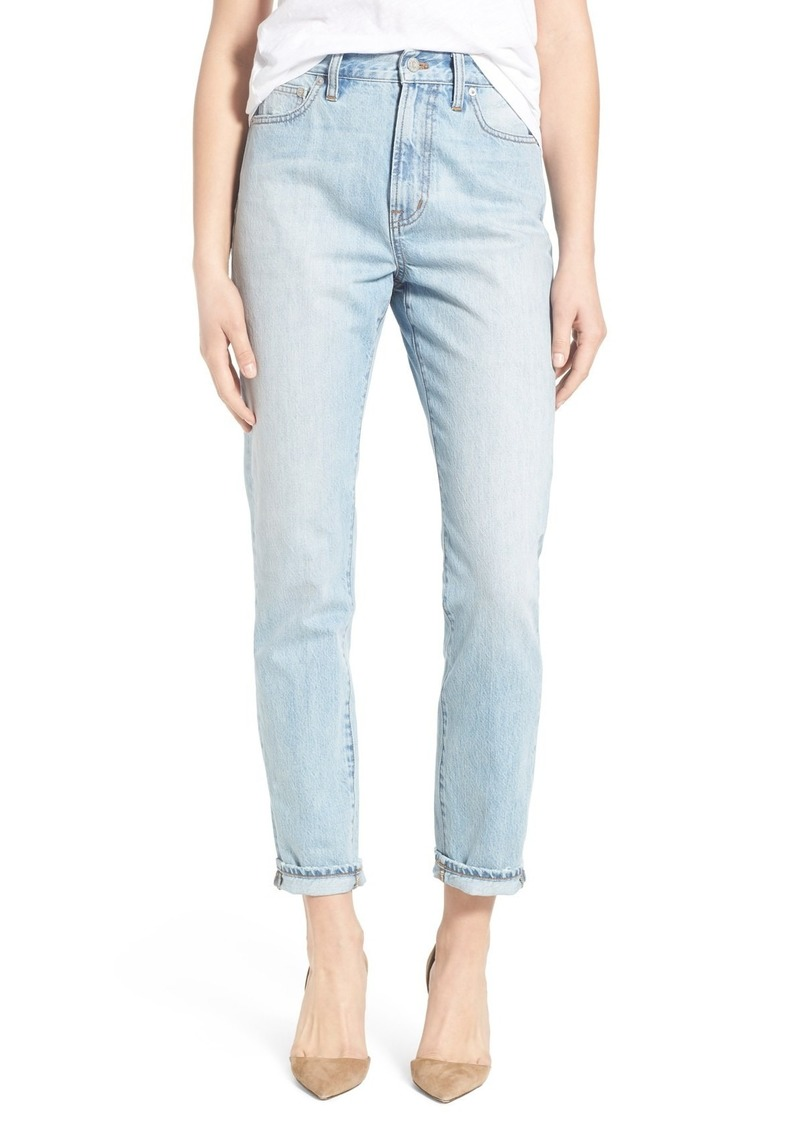 Madewell Perfect Summer High Rise Ankle Jeans (Fitzgerald Wash)
