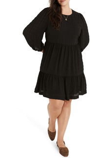 Madewell Puff Sleeve Ruffle Hem Minidress (Regular & Plus Size)