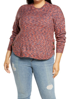 Madewell Space Dye Birchmont Side Button Pullover Sweater (Plus Size)