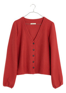 Madewell Texture & Thread Bubble-Sleeve Cardigan