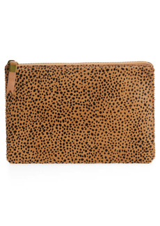 Madewell The Leather Pouch Clutch: Dotted Calf Hair Edition