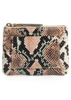 Madewell The Leather Pouch Snake Embossed Edition Clutch