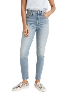 Madewell The Perfect High Waist Distressed Jeans (Coffey Wash)