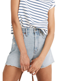Madewell The Ripped Momjean Denim Shorts (Byers Wash)