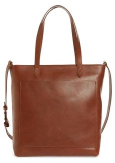 Madewell The Zip-Top Medium Transport Leather Tote