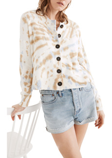 Madewell Tie Dye Broadway Cardigan Sweater
