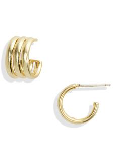 Madewell Triad Huggie Hoop Earrings