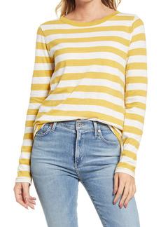 Madewell Whisper Cotton Long Sleeve Ringer T-Shirt