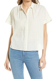 Madewell Windowpane Print Hilltop Shirt