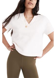 Madewell MWL Airyterry V-Neck Sweatshirt T-Shirt