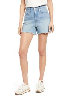 Madewell Women's The Curvy Perfect High Waist Cutoff Jean Shorts (Baylis Wash)