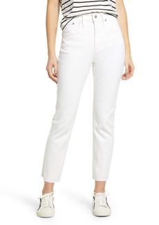 Madewell Women's The Perfect Vintage High Waist Tapered Leg Jeans (Tile White)
