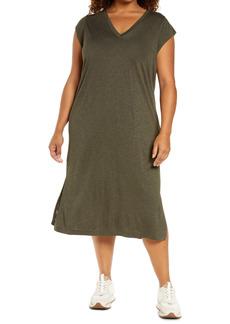 Madewell Women's V-Neck Midi Dress (Plus Size)