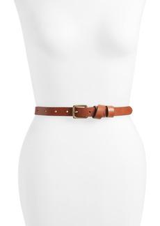 Women's Madewell Leather Crisscross Skinny Belt
