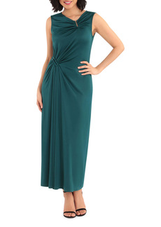 Maggy London Bar Ruched Maxi Dress