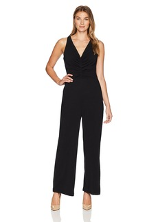 Maggy London Women's Evening Crepe Sleeveless Solid Jumpsuit