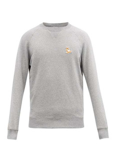 Maison Kitsuné Chillax Fox-patch cotton-jersey sweatshirt
