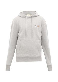 Maison Kitsuné Double Fox Head-patch cotton hooded sweatshirt