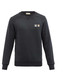 Maison Kitsuné Double Fox Head-patch cotton sweatshirt