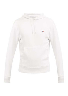 Maison Kitsuné Tricolour-fox hooded cotton sweatshirt