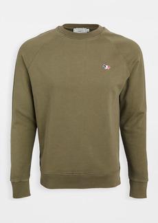 Maison Kitsuné Maison Kitsune Crew Neck Sweatshirt with Tricolor Fox Patch