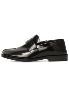 Maison Margiela 20mm Tabi Brushed Leather Loafers