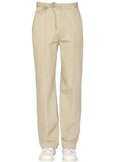 Maison Margiela 23,5cm Fine Cotton Gabardine Loose Pants