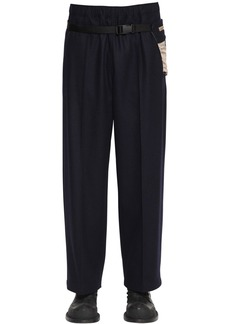 Maison Margiela 25cm Virgin Wool Pants W/belt Bag