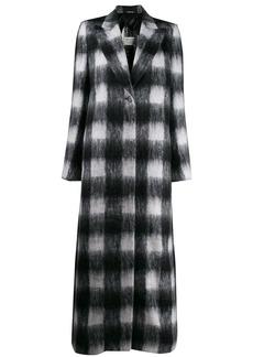 Maison Margiela checked textured long coat