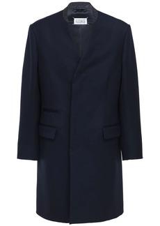 Maison Margiela Collarless Wool Coat