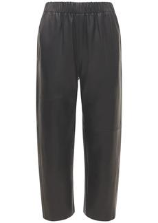 Maison Margiela Crop Leather Pants