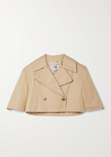 Maison Margiela Cropped Double-breasted Cotton-gabardine Jacket