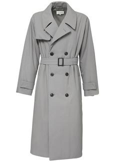 Maison Margiela Double Breast Cotton Trench Coat