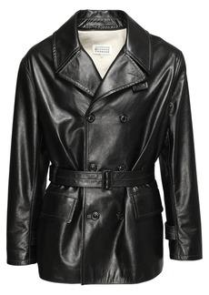 Maison Margiela Double Breast Leather Jacket