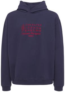 Maison Margiela Logo Embroidery Cotton Sweatshirt Hoodie