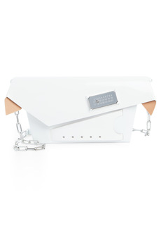 Maison Margiela Small Snatched Calfskin Leather Convertible Clutch - White