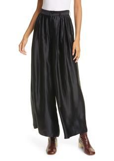 MM6 Maison Margiela Wide Leg Satin Trousers