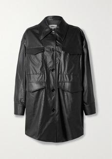 Maison Margiela Oversized Faux Leather Jacket