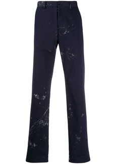 Maison Margiela paint splatter tailored trousers