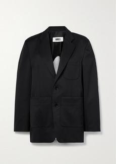 Maison Margiela Twill And Mélange Cotton-blend Jersey Blazer