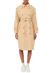 maje Cotton Blend Trench Coat