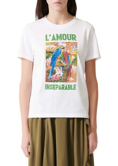 maje L'amour Graphic Tee