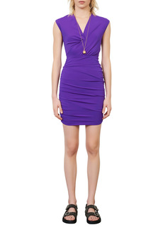 maje Ruched Body-Con Dress
