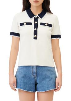 Women's Maje Cotton Polo Top