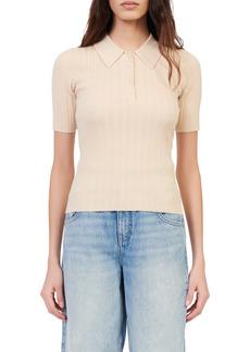 Women's Maje Musso Wool Blend Short Sleeve Polo Shirt