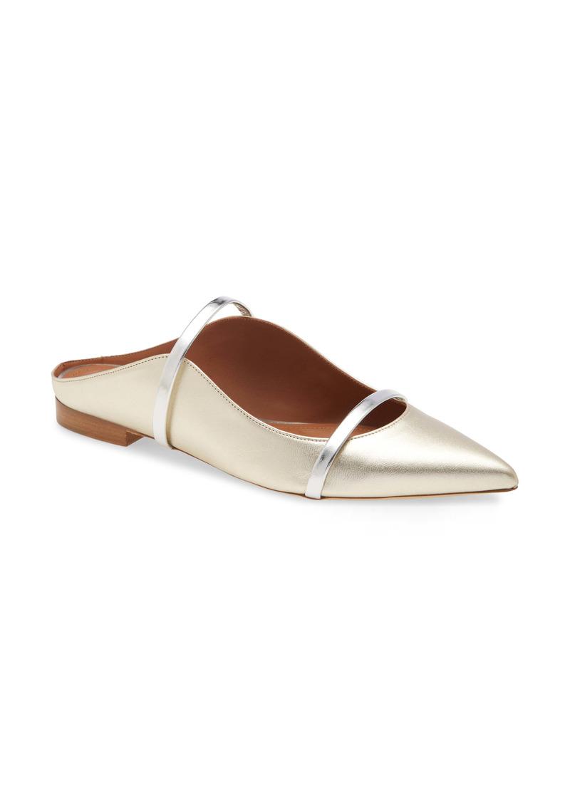 Malone Souliers Maureen Metallic Pointed Toe Flat (Women)