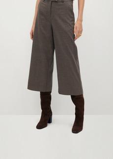 Mango Women's Check Culottes Pants