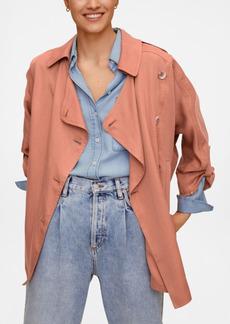 Mango Women's Linen Lyocell Trench Coat