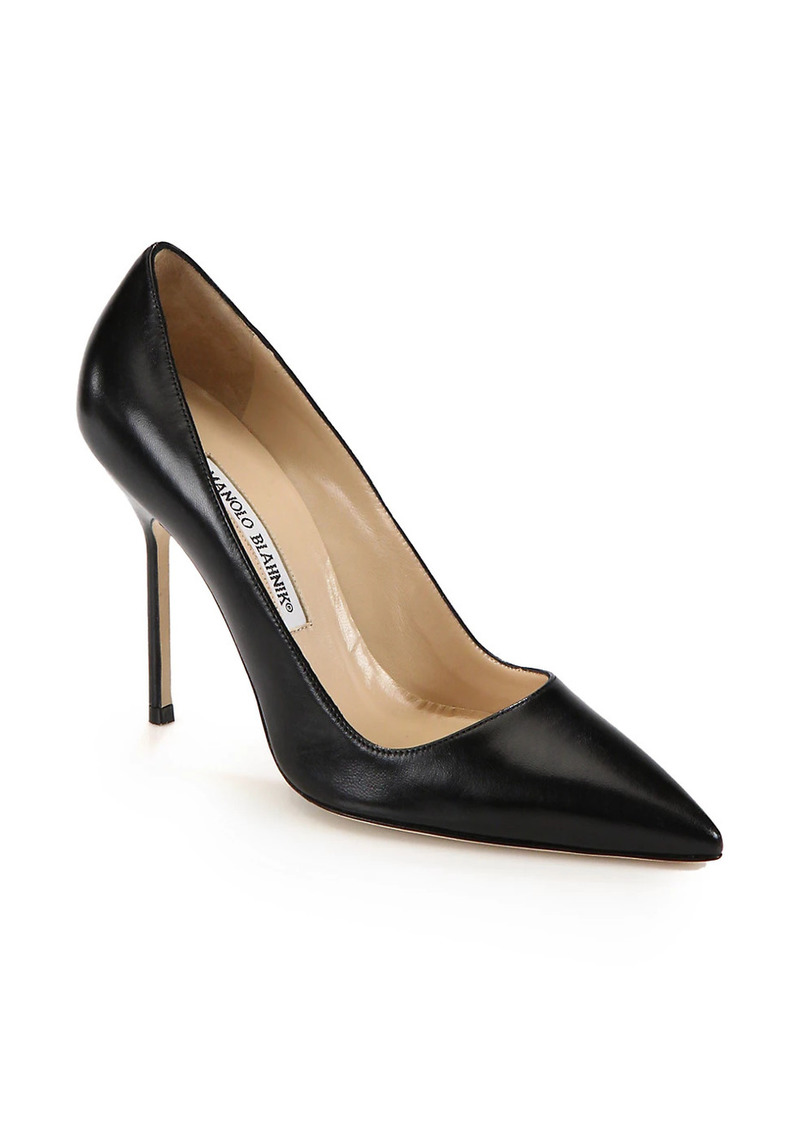 Manolo Blahnik BB 105 Leather Pumps