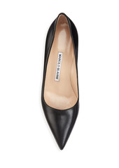 Manolo Blahnik BB 70 Leather Pumps